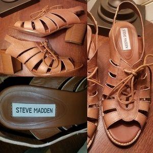 """Steve Madden leather 2 3/4"""" heeled sandals"""